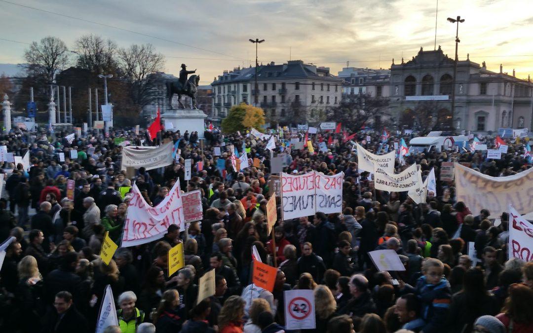 BUDGET 2021 – Les fonctionnaires genevois votent la grève